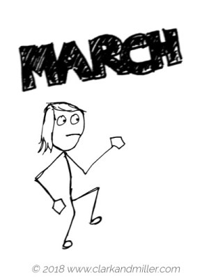 Verbs of movement: march