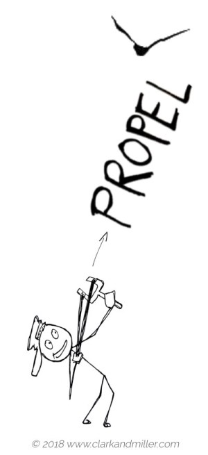 Verbs of movement: propel