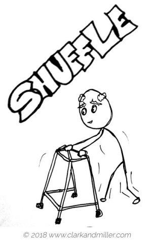 Verbs of movement: shuffle