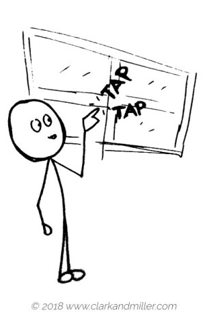 Verbs of movement: tap