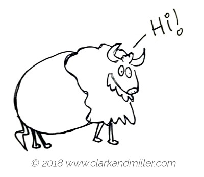 Sketch of a buffalo