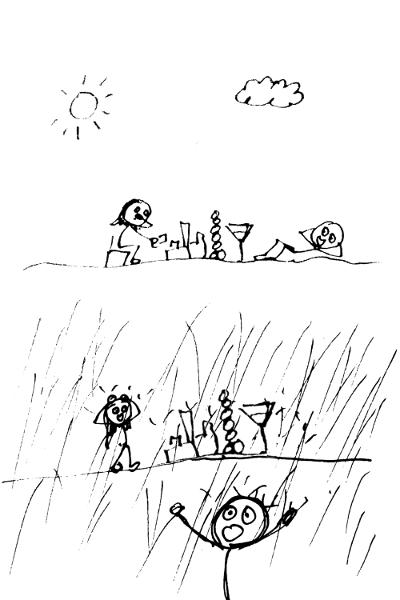 Weather vocabulary: sudden downpour