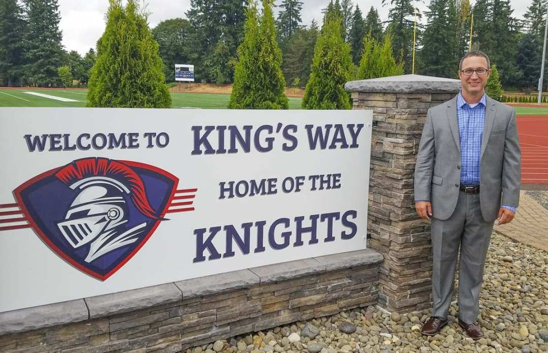 Dr. Jason Tindol is the new superintendent of King's Way Christian Schools in Vancouver. He said he was called to move to the Northwest to help King's Way into the future. Photo by Paul Valencia