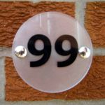 ROUND HOUSE NUMBER SIGN/PLAQUE