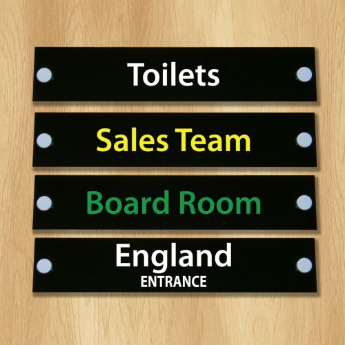 BLACK GLOSS ACRYLIC OFFICE DOOR SIGN