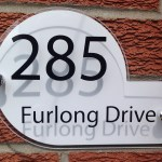 MODERN SHAPED HOUSE SIGN / PLAQUE
