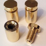 Polished Brass Stand Off Fitting Bolts