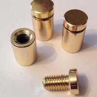 Polished Brass Sign Fittings