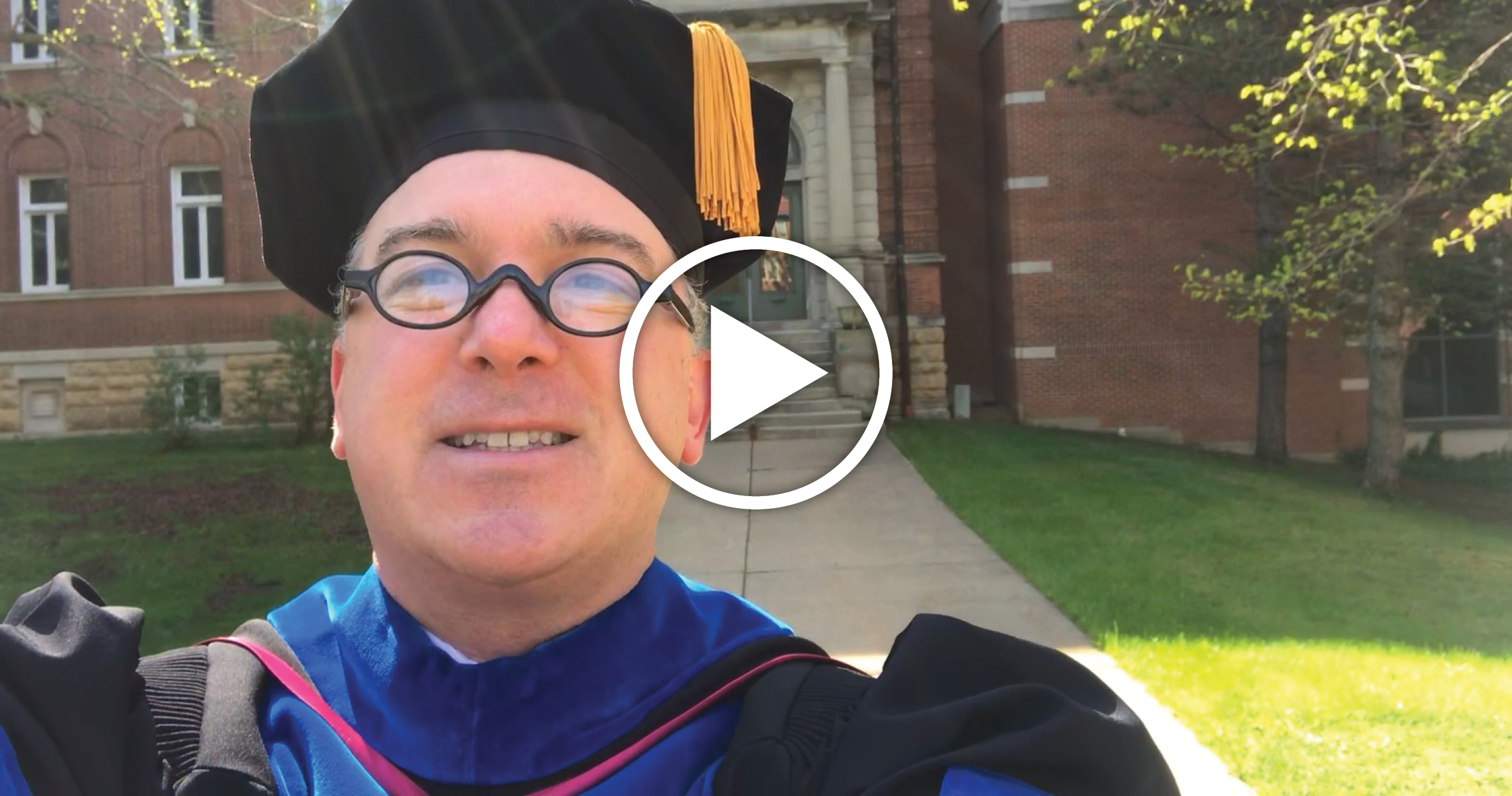 Commencement Video Play Button