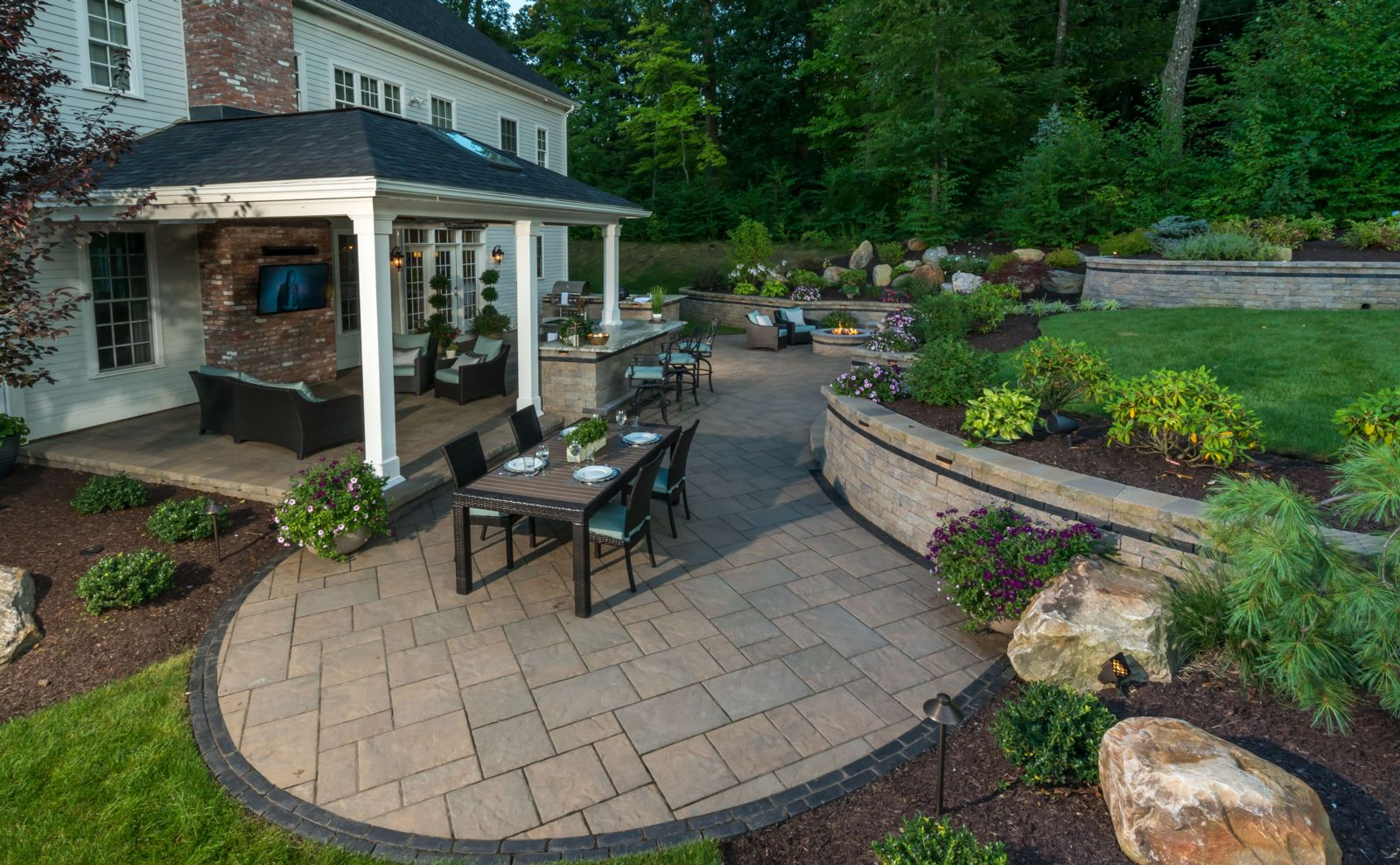Clarke Landscapes | Landscape Design Farmington CT ... on Backyard Landscape Designers Near Me  id=49633