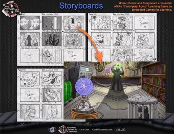 Flash Motion Comic Storyboard, ASU (Embodied Games for Learning)