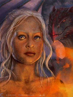 Mother of Dragons GoT fan-art