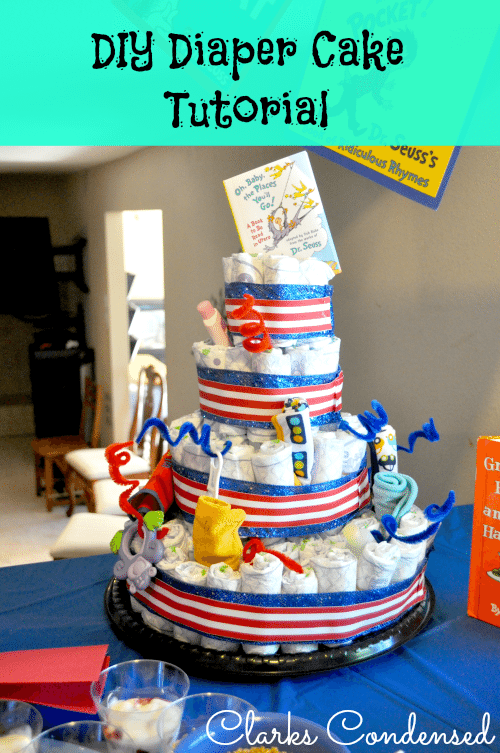 How To Make A Diaper Cake An Easy Baby Shower Gift Decoration