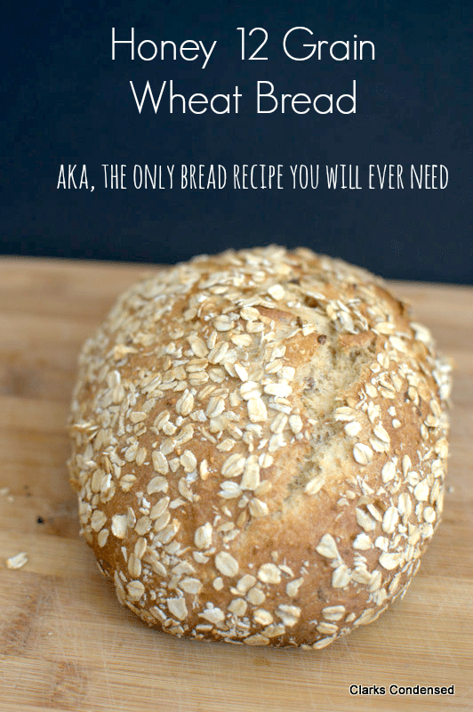 Honey Multigrain Wheat Bread - This hearty wheat bread is full of 12 grains, honey, and a few other ingredients, and makes two delicious loaves. It might just be the last wheat bread recipe you'll ever need!