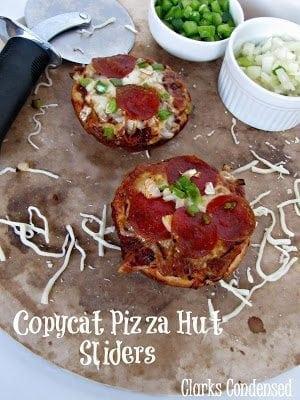Copycat Pizza Hut Sliders