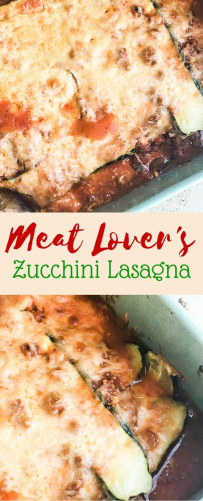 This meat lover's zucchini lasagna is a better-for-you and absolutely DELICIOUS! via @clarkscondensed