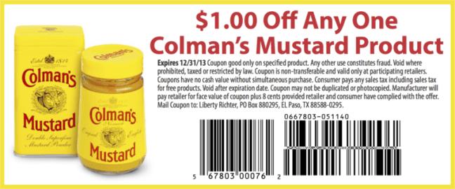 Colman's Mustard Coupon