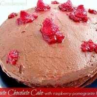 Raspberry Pomegranate Chocolate Frosting