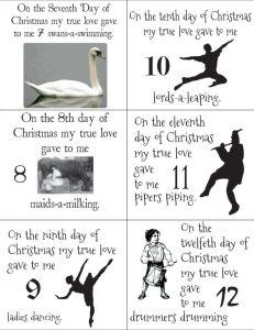 12 days of Christmas Printables
