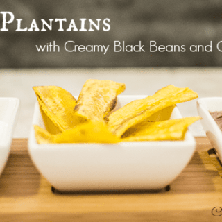 Plantains with Black Beans and Cream