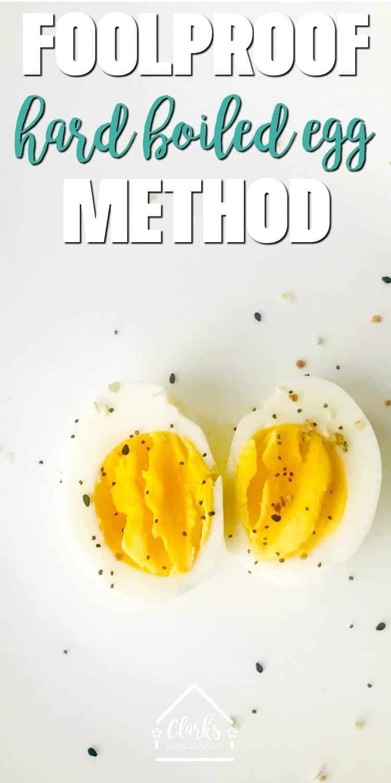 The Best Foolproof Hard Boiled Egg Method / hard boiled eggs / how to hard-boil eggs / hard-boiled eggs / non instant pot hard boiled eggs via @clarkscondensed