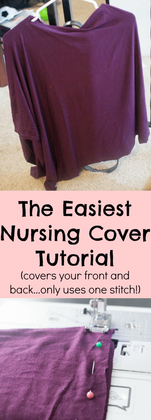 nursing cover / diy nursing cover / easy nursing cover / easy diy nursing cover / breastfeeding cover / poncho nursing cover