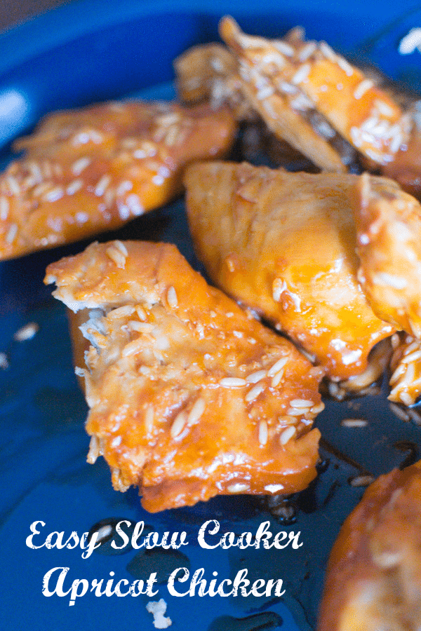 Slow Cooker Apricot Chicken - sweet and tangy, and super easy!