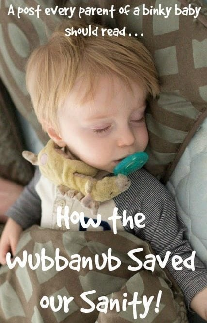 Do you have a binky baby? Does your baby's binky constantly fall out? Do you go crazy searching for a pacifier that bounced away? Be sure to read why the WubbaNub saved our sanity (not sponsored -- we just love the WubbaNub!)