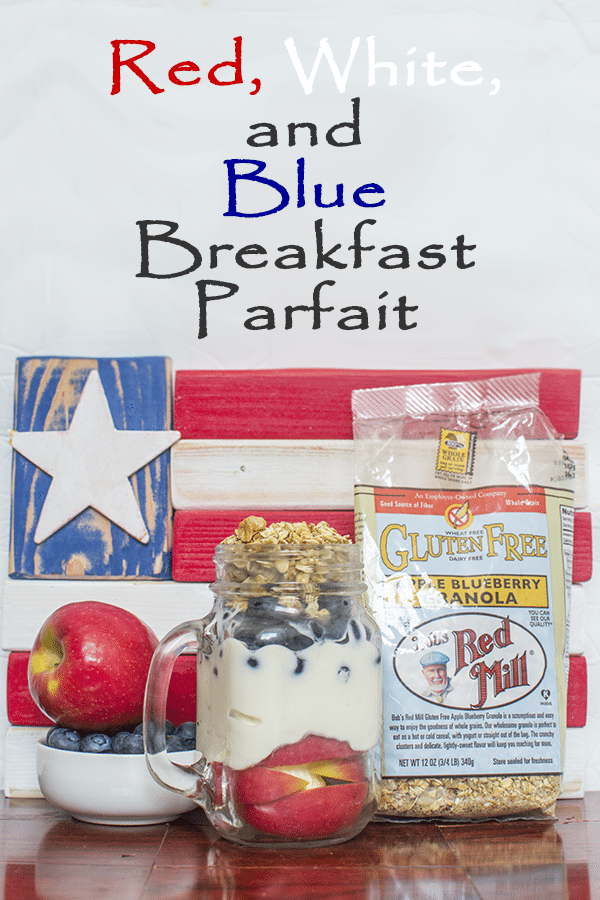 Red, White, and Blue Breakfast Parfait