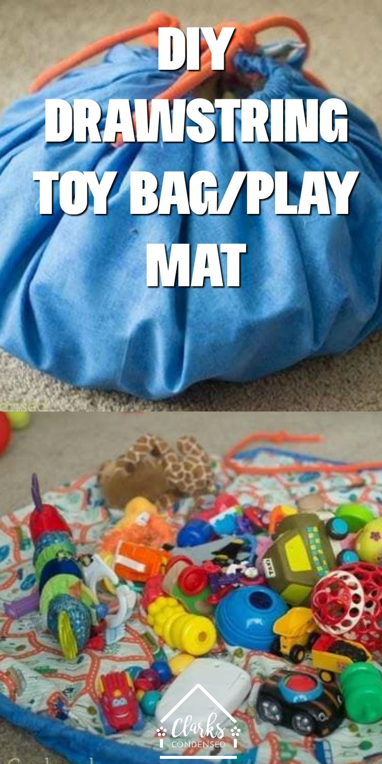 DIY Lego Drawstring Mat / Toy Bags for Storage / Drawstring Bag for Toys / Play and Go Mat via @clarkscondensed