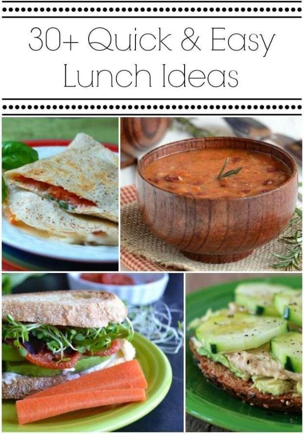 30+ Quick & Easy Lunch Ideas via ClarksCondensed.com
