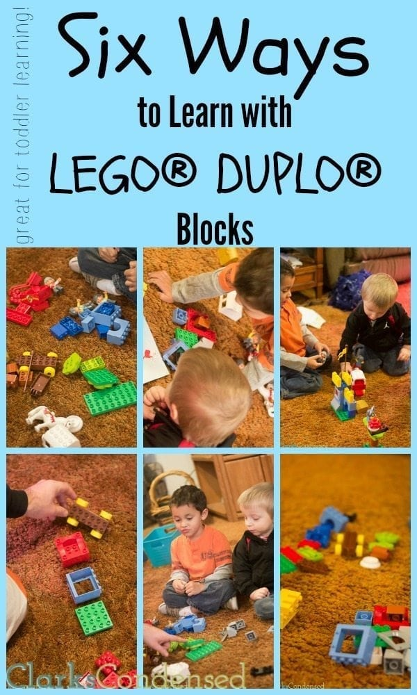 Looking for some creative ways to teach your toddler? Here are six fun ways to learn with LEGO DUPLO Blocks that your kids will love!