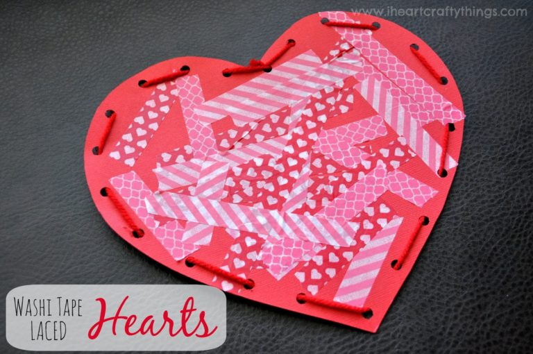 Washi Tape Laced Hearts
