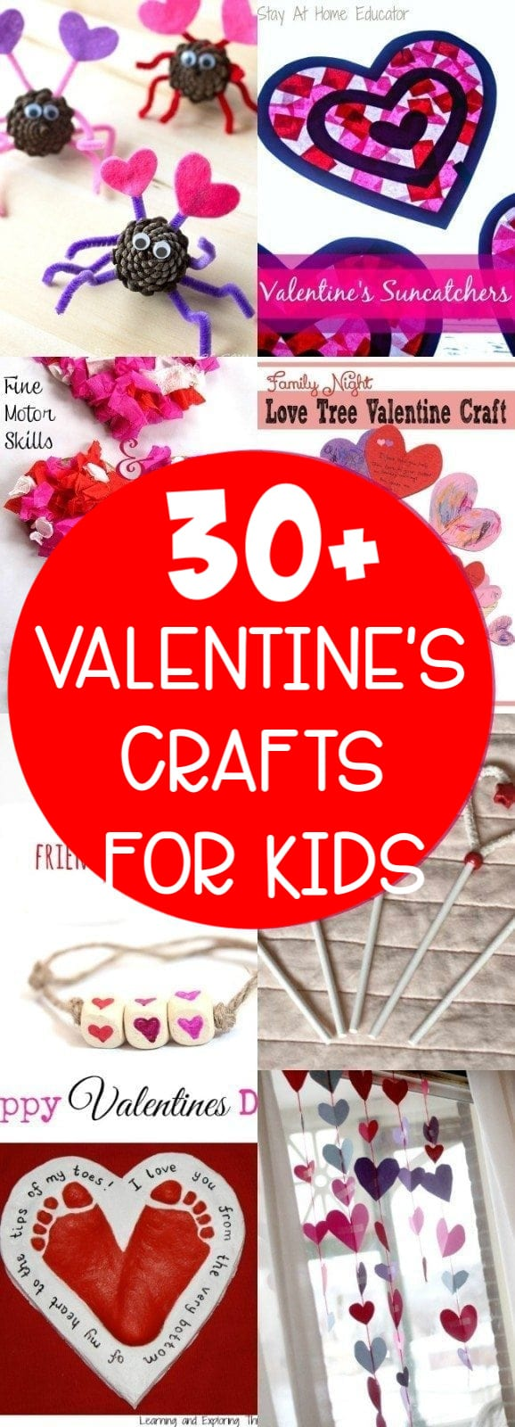 30+ Valentine's Day Crafts for kids - so many fun and cute ideas! via @clarkscondensed