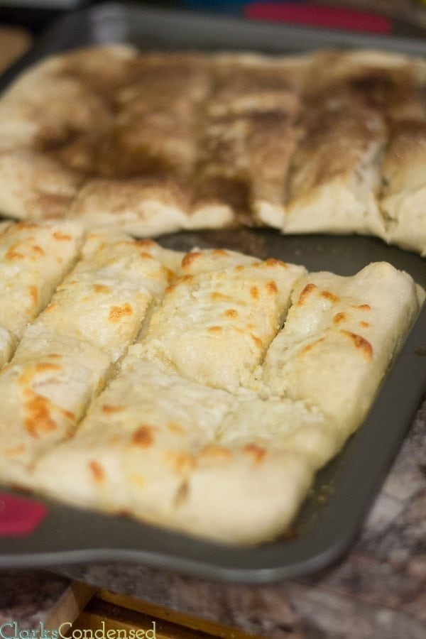 Easy and delicious cheesy garlic bread made with an easy dough recipe