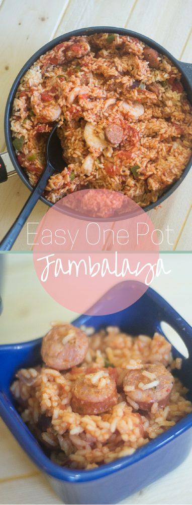An amazing and easy one pot jambalaya recipe via @clarkscondensed