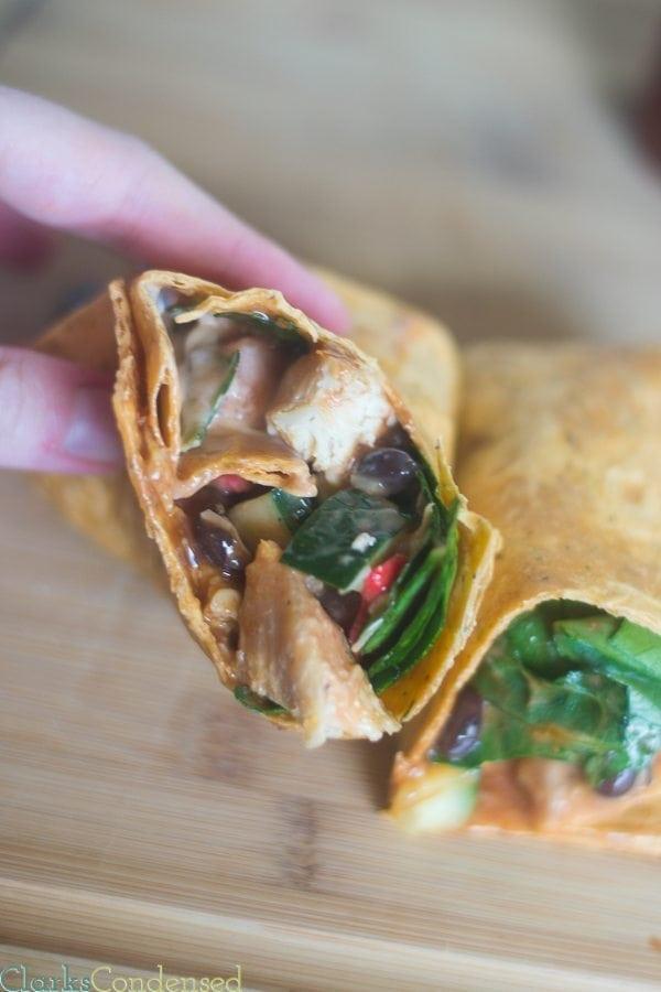 Easy BBQ Chicken Wrap Recipe