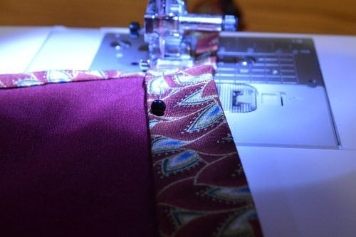 Continue Sewing to the Ends of the Tie