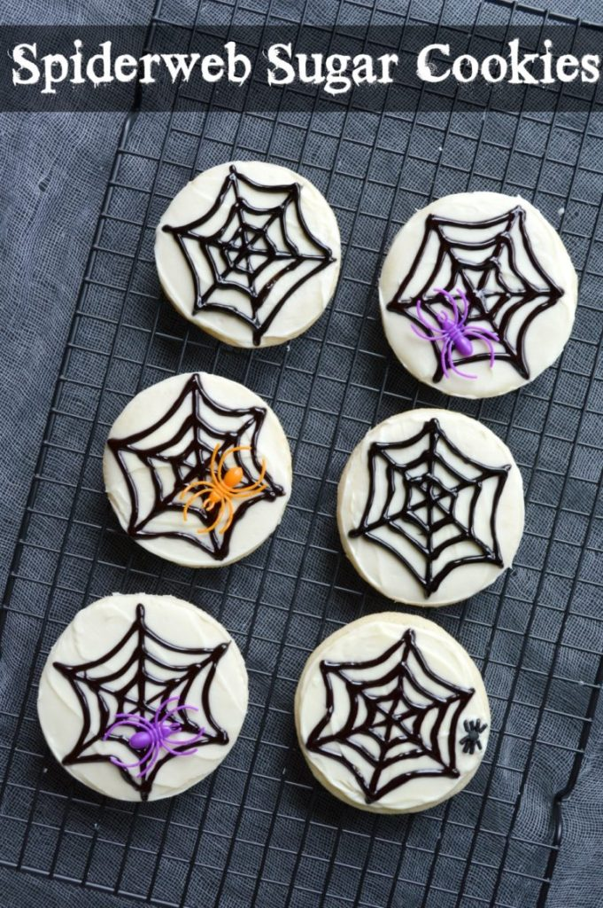 These spiderweb sugar cookies are the perfect Halloween treat!