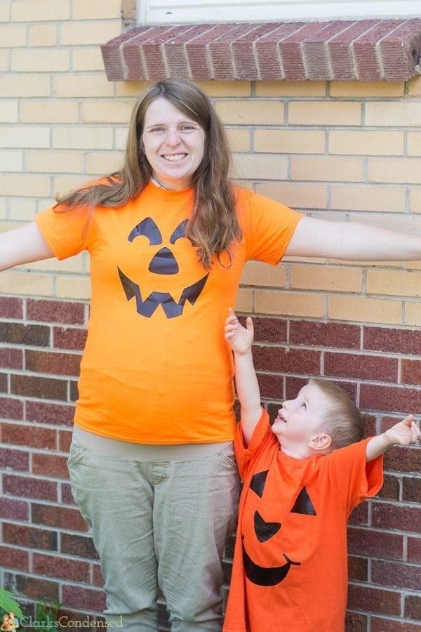 diy pumpkin shirts