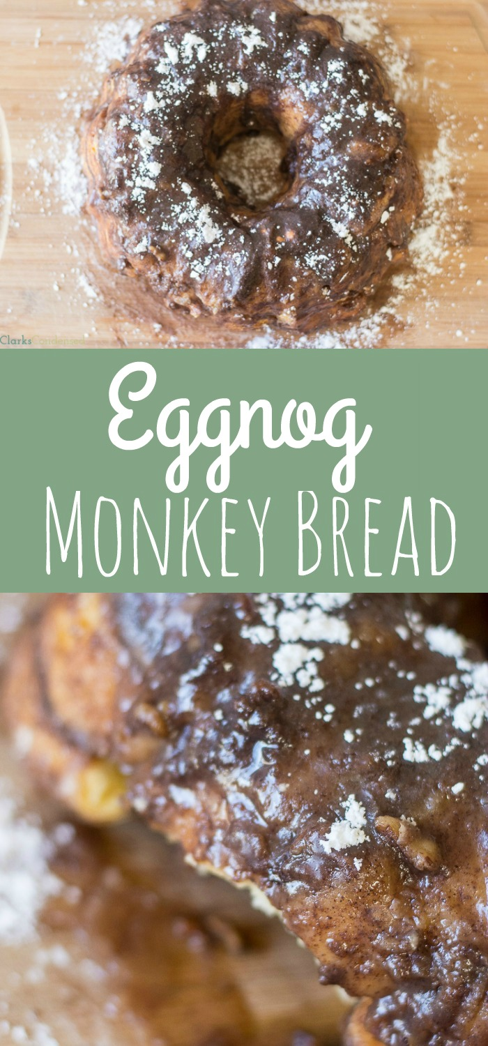 This eggnog monkey bread recipe is the ultimate holiday dessert. It's so easy and delicious - perfect for holiday parties!
