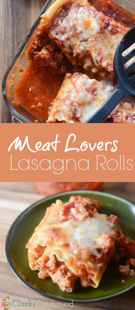 Love meat and lasagna but looking for an easy recipe? These meat lovers lasagna rolls satisfy all those requirements!