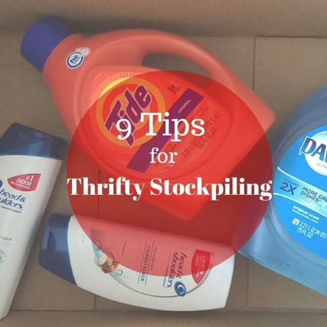 Stockpiling is great...if it's actually saving you money! Here are some thrifty stockpiling tips for saving products on a budget.