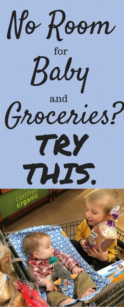 Do you ever go to the grocery store with your baby in their carrier and realize you have no room for groceries? This is what you need.  via @clarkscondensed