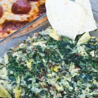 Cheesy Spinach Bacon Dip