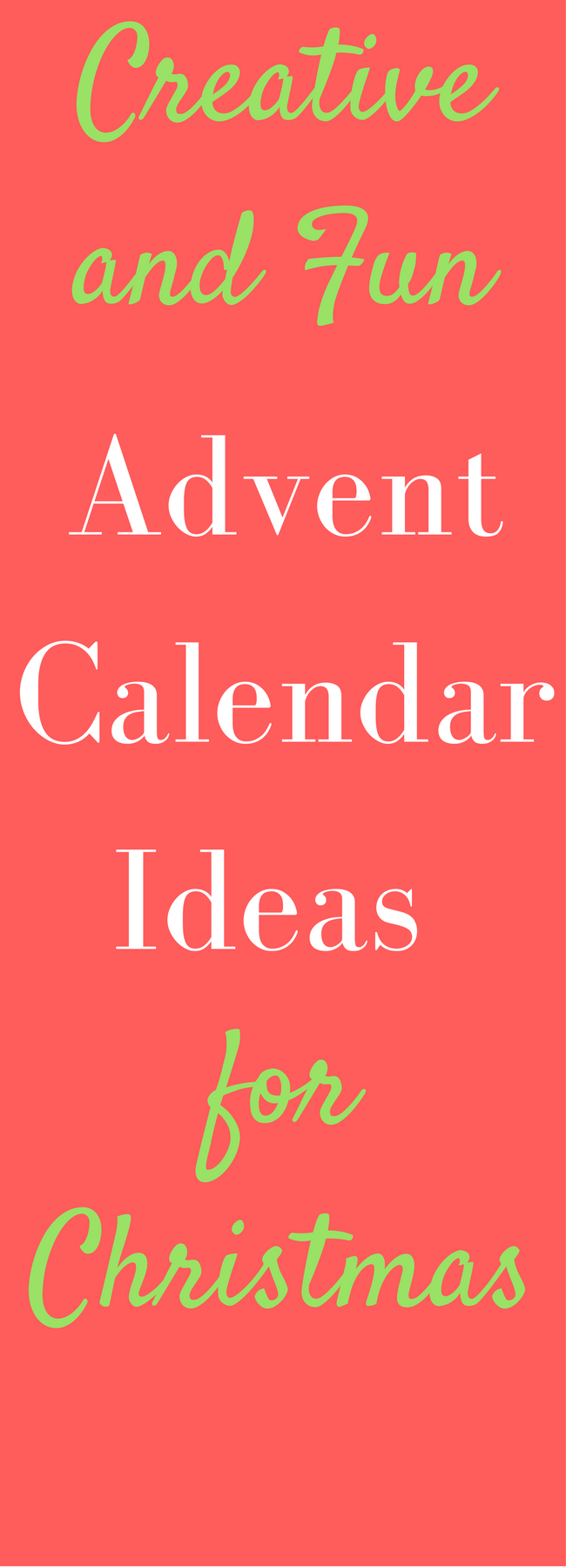 Advent calendar ideas for Christmas for kids, adults, and everyone in between! via @clarkscondensed