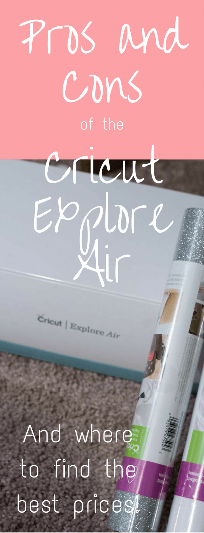 Pros and Cons of the Cricut Explore Air: A great guide if you are considering buying a Cricut! via @clarkscondensed