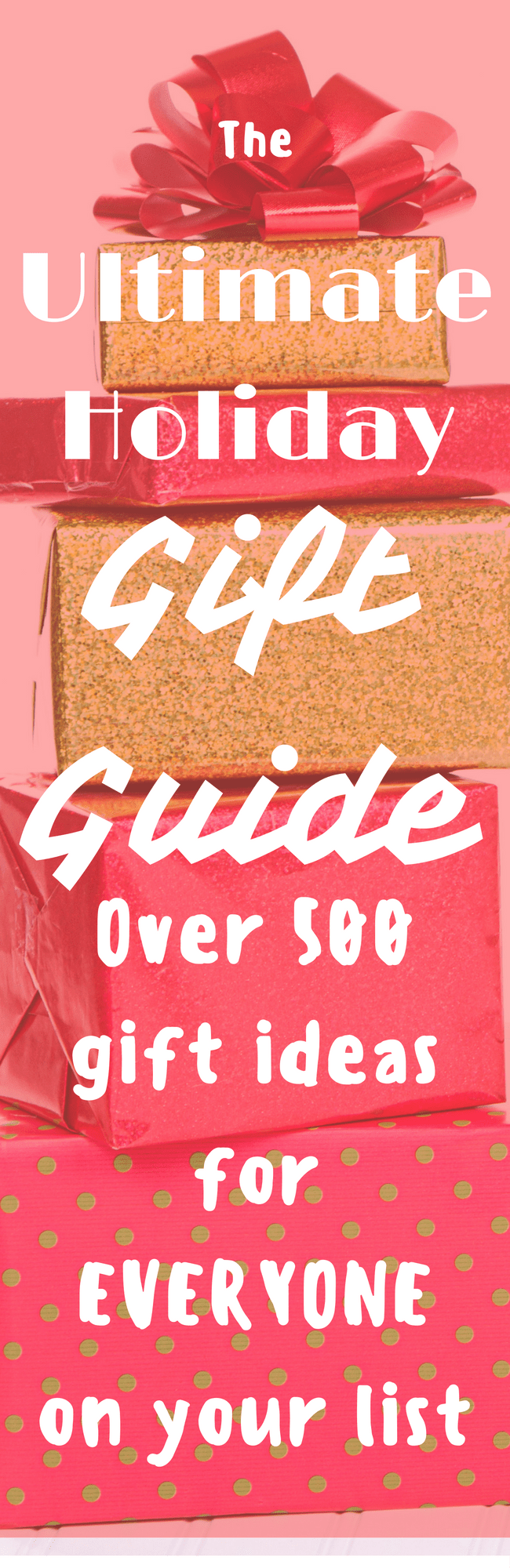 The Ultimate Holiday Gift Guide: Over 500 unique gift ideas for men, for women, for kids, for teens, and more. Creative, cheap items are include as well! This is the only page you need this holiday season.