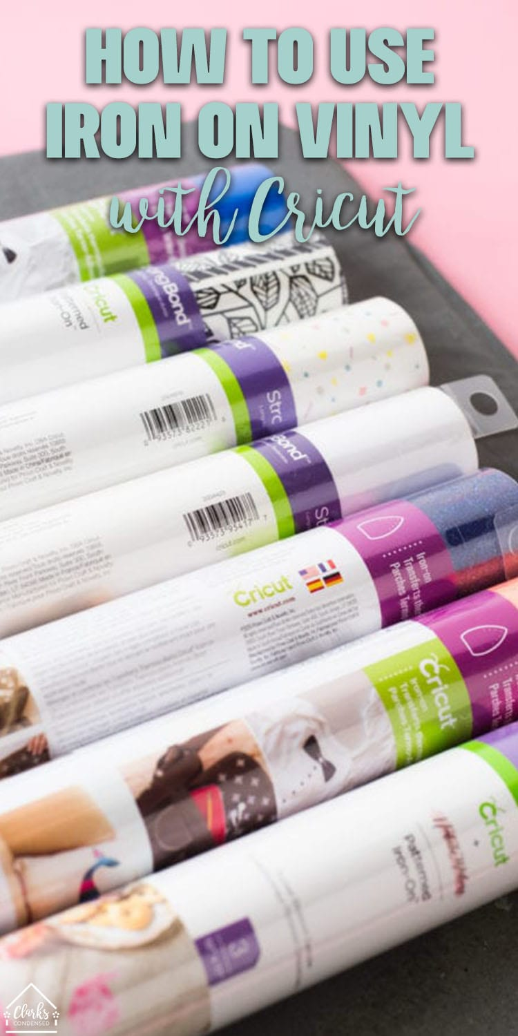 Iron on vinyl rolls for Cricut are some of my favorites to work with. You can easily learn how to make iron on projects with the Cricut Explore Air 2 by following all of the advice in this post. If you are looking for tips for iron on vinyl - this post should definitely help you - make sure you read this post about Iron on Vinyl FAQ to learn even more!