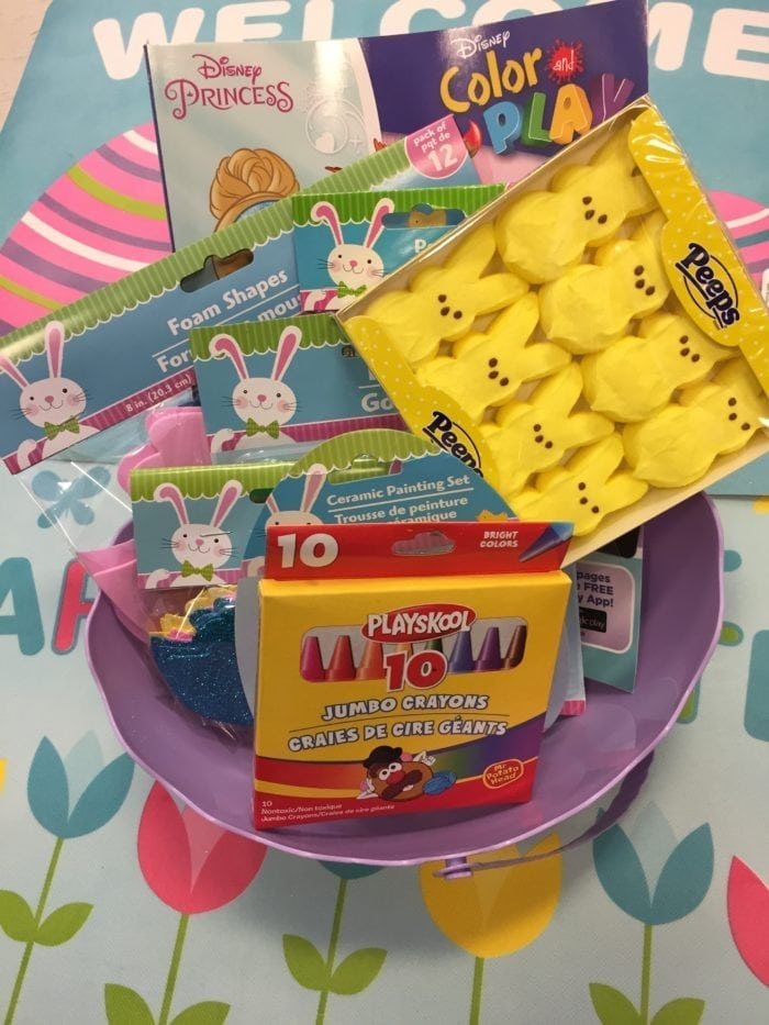 A close up of a box with kids toys